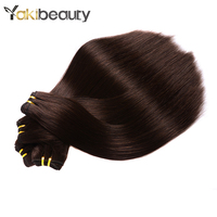 Color #2 Peruvian Straight Hair Bundles 100g/pcs Dark Brown Human Hair Bundles 1/3/4 Bundles Deals Remy Hair Weave Double Weft