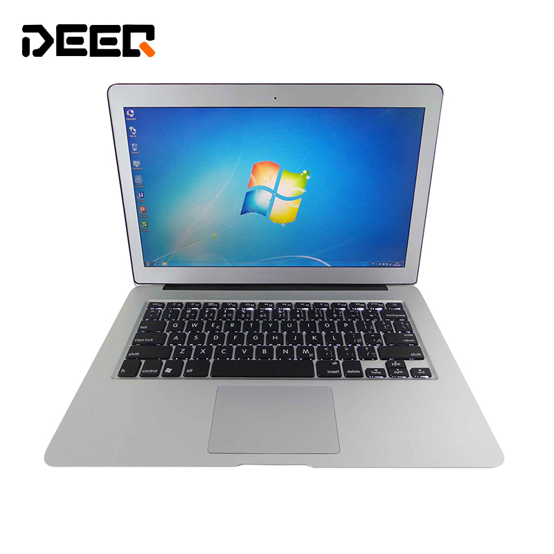 Free Shipping 13.3 Inch Windows8/10 Intel Celeron 2957u 8G RAM 256G SSD 7000 Mah Laptop Built In Camera Backlight Keyboard
