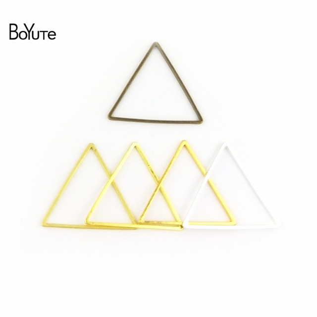 BoYuTe Metal Brass Geometric Triangle Connector Charms 4 Colors DIY Jewelry Findings Components