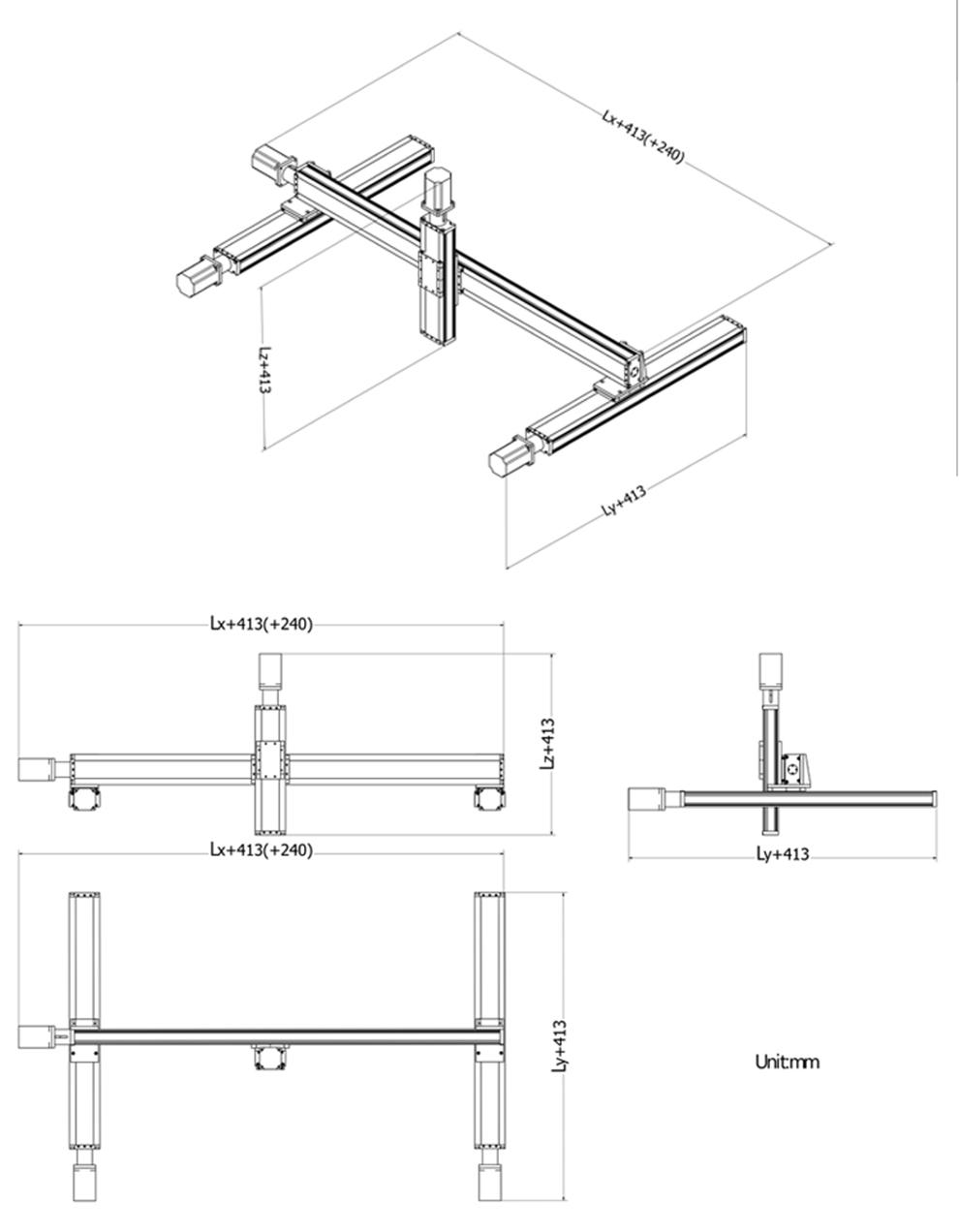 Ball Screw XYZ Linear Slide Motion Stage CNC XY Motorized