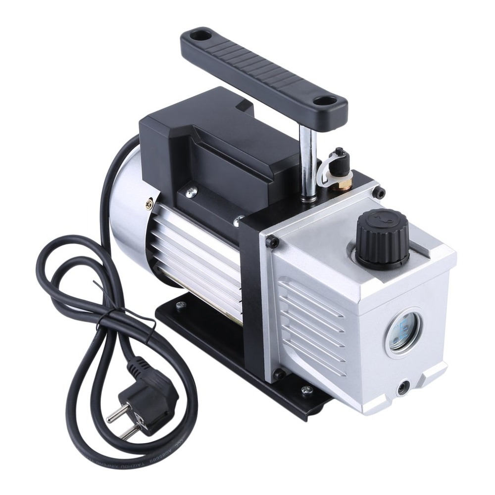 (Ship From Germany)3.5CFM 1/3HP High Power Single Stage 5 Pa Vacuum Pump For Refrigeration Air Conditioning Systems EU Plug