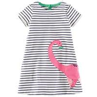 Baby Girl Dress With Animals Applique 2017 Summer Elsa Princess Dresses Kids Clothing 100 Cotton Children