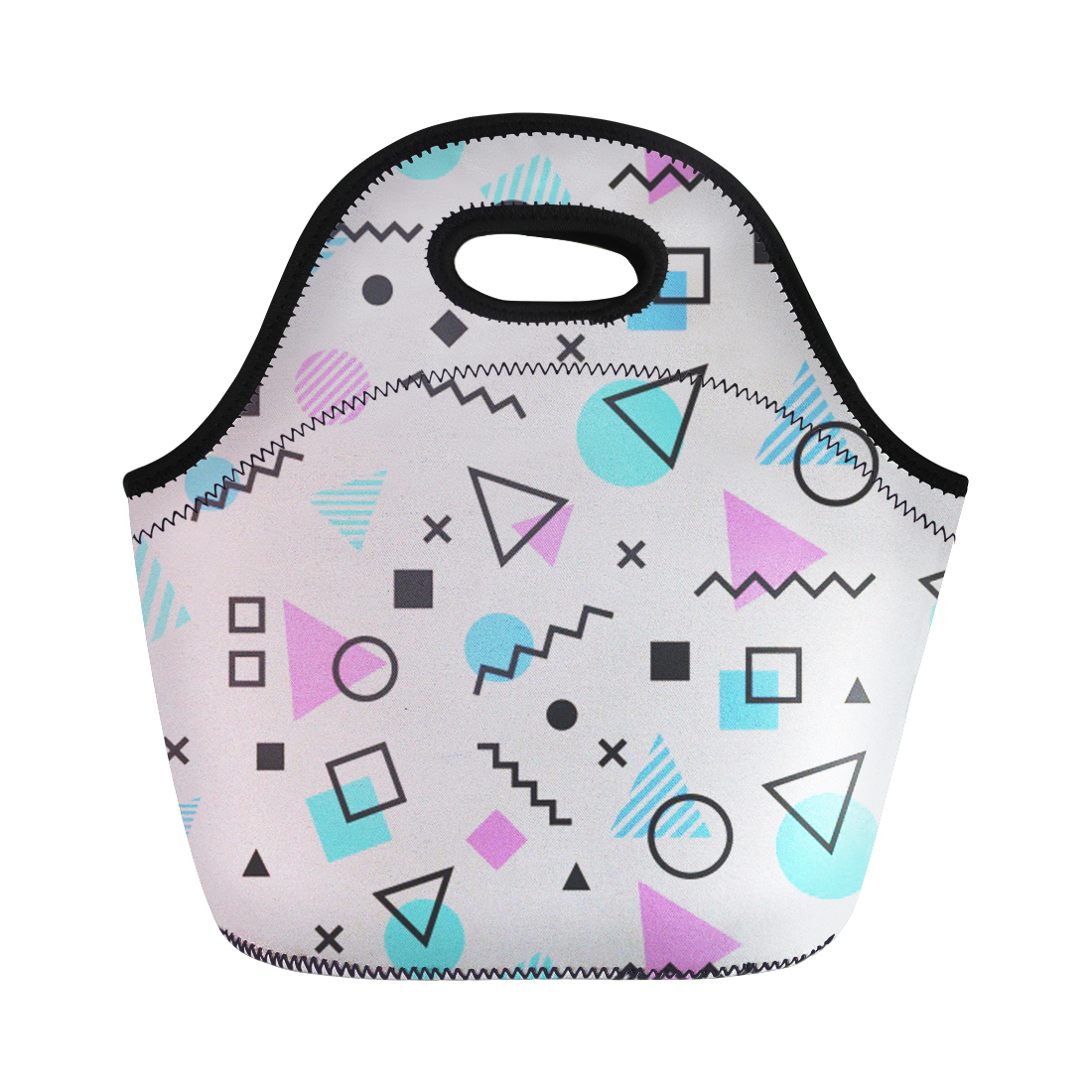 FORUDESIGNS Cartoon Skull Insulated Cotton Linen Lunch Bag Thermal Food Picnic Handbag for Women Kids Cooler Lunch Box Bag Tote