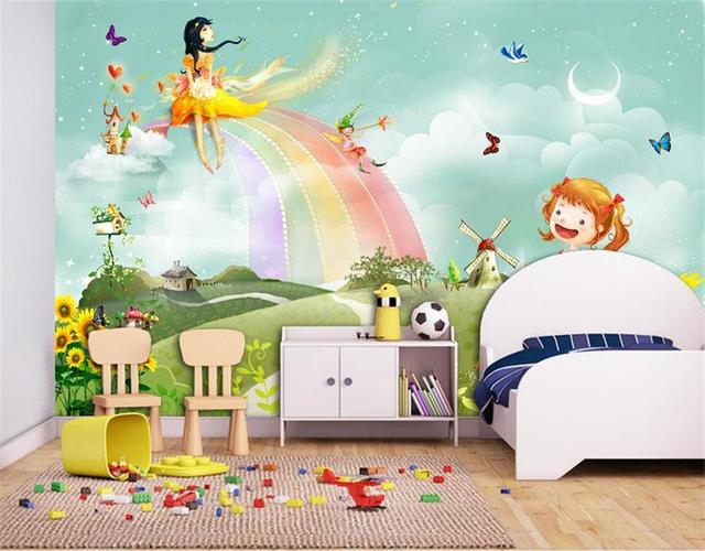 3d Wallpapercustom Photo Wallpaper Living Room Kids Mural Colorful Balloons  3d Picture Sofa TV Background Non Woven Wall Sticker