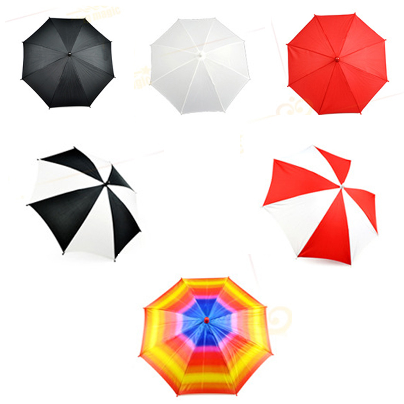 6 Pcs/set Mini Size Magic Umbrella Magic Trick (33cm Length) Magic Device Silk To Four Umbrellas Stage Magic Accessory