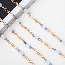 Fashion Design Women Fanciest Sunglasses Lanyards Reading Glasses Cord Holder Neck Strap Rope Crystal Beads Eyeglass Chain