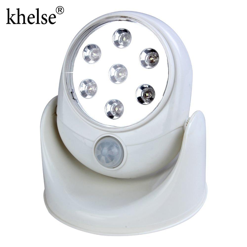 Automatic Mini Bright LED Lamp 360 Degree Led Night Light Motion Sensor Battery Powered For