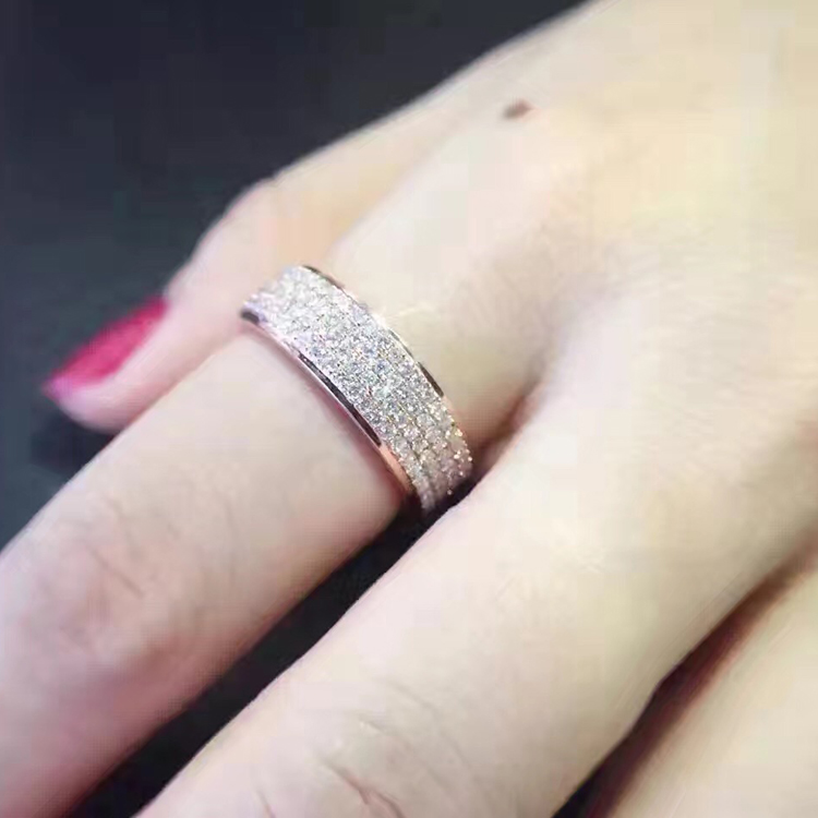 LASAMERO 1.1CT Round Cut Certified Natural Diamond Ring Accents 18k Rose Gold Art Deco Engagement Wedding Ring