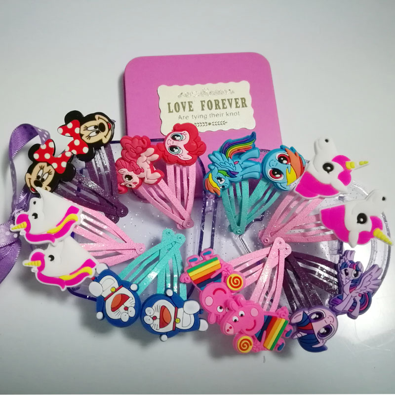 16Pc/set lovely Cartoon Hairpin headwear kid's Barrettes Hair Clips Jewelry Snap Clips Children Hair Accessories Girls Hot Gift children fashion bobby pins hairpin headwear set 6pcs set girls cartoon hello kitty fox owl cat animal bb clips hair accessories