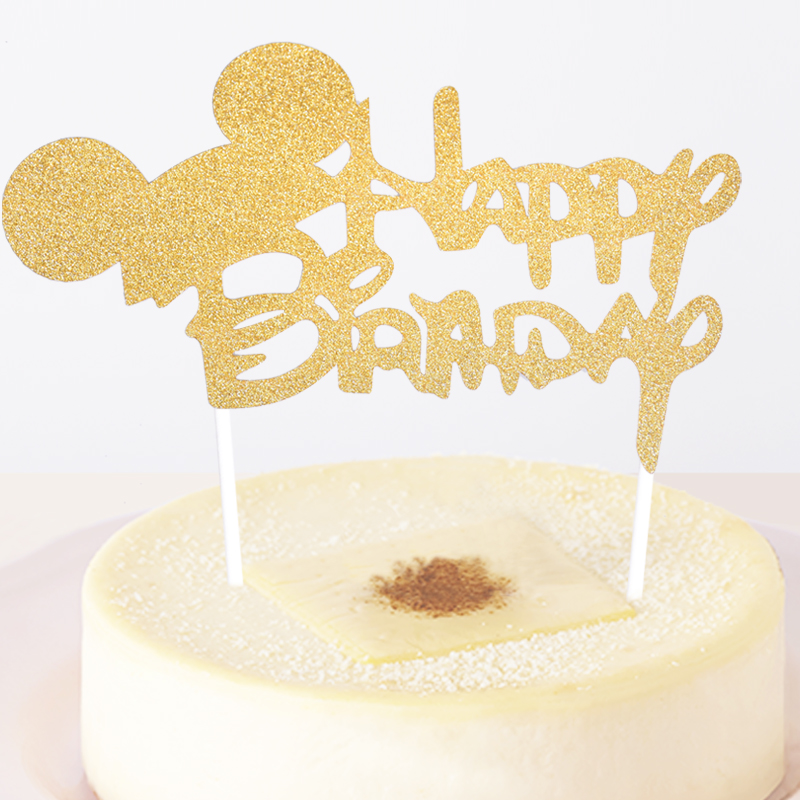 1pc Lovely Mickey Mouse Happy Birthday Cupcake Cake Topper Cake Flags Kids Birthday Party Baby Shower Decoration Supplies