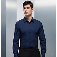 100% Cotton Long Sleeve Shirts Men's Solid Color Romantic Wedding Groom Dress Shirt Casual Regular Fit Suit Dress Shirt for Men