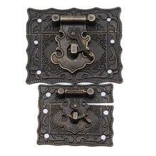 Ретро Бронзовая цветная металлическая пряжка, декоративная коробка с застежкой, антикварные защелки для деревянных ящиков, шкатулка для ювелирных изделий, инструменты для дома
