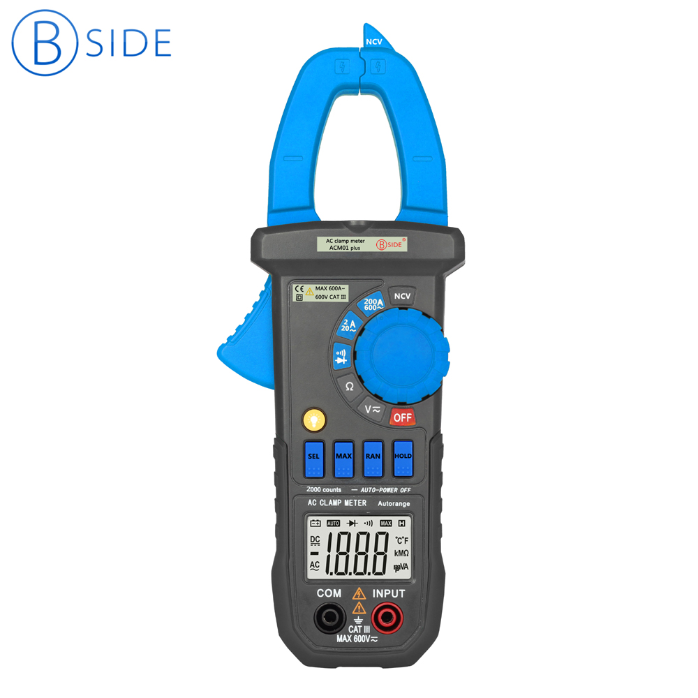 BSIDE ACM01 Plus 3 1/2 600A Auto Range Digital Clamp Meter Non-contact AC Current Tester Multimeter & Clamp Lighting backlight помада make up factory make up factory ma120lwhdq62