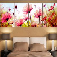 Free Shipping Handmade Modern Impressionist Pink Flower On Canvas Oil Painting 100%Hand Painted Fine Art Wall Decorative Picture
