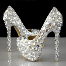 Super flash crystal chaton wedding shoes white bride shoes show diamond wedding wedding wedding high-heeled shoes crystal show