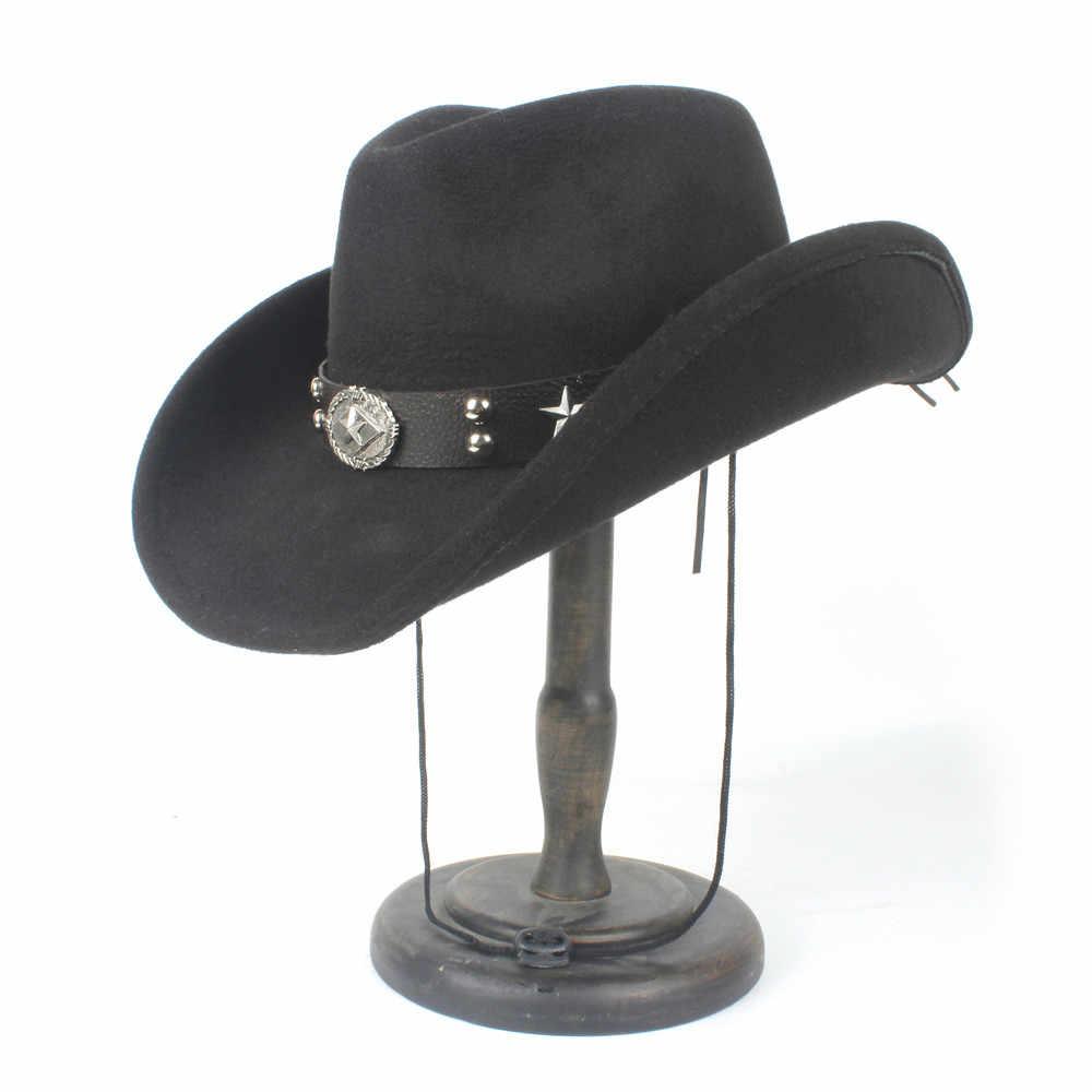 2019 de las mujeres de los hombres de lana sombrero de vaquero occidental de Panamá sombrero de ala ancha sombrero