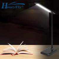 HoneyFly Patented LED Desk Lamp 7W 5V Eye Protection Lamp USB 3 Color Flexible Soft Tube LED Table Light Book Light Home Office