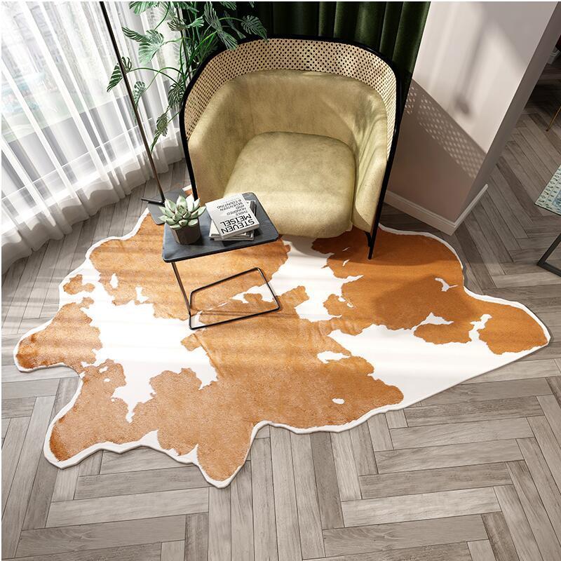 Tapis de fourrure tapis pour salon chambre imitation laine peau ins Europe luxe chambre canapé chevet salon zone tapis tapis tapis