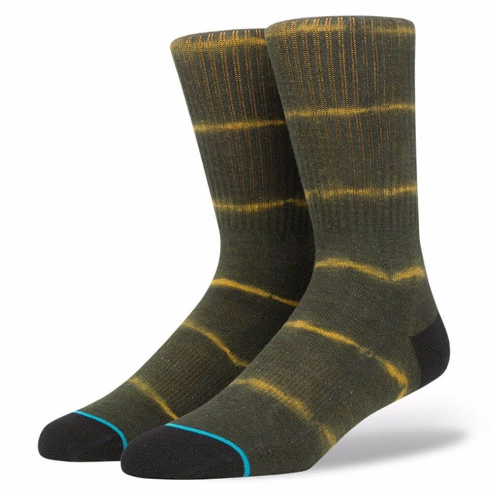 Mens Tie Dye Strip Street Skate Socks USA Size M(6-8.5),L( 9-12) ,Euro Size 39-41.5,42-45