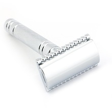 Double Edge Safety Razor Rakning Razor Silver Manuell Razor Classic Style 10.8CM Mässing Lång Anti Sliphandtag Lyrebird HL2 NEW