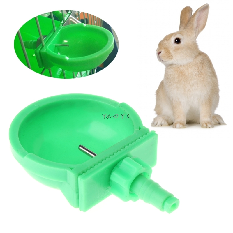 Small Pet Drinker Water Bowl Hamster Rabbit Drinking Farm Equipment Portable