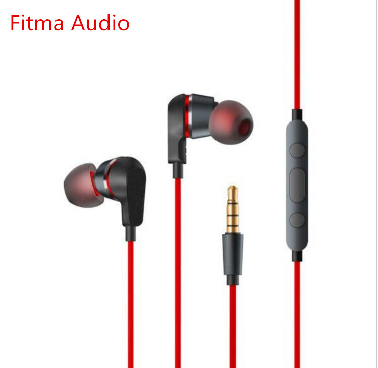 Fitma Audio For ZTE Nubia Circle Iron Earphone Hybrid Earbud Remote Mic For Nubia Z5 X6 Z9 MAX Z11 MINI X6 Prague N1