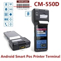 "Rugged Industry Design 5""Touch Screen Android Smart Handheld POS Thermic printer Terminal 2D barcode Scanner+3G/WIFI/NFC"