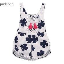США; комбинезон для новорожденных и маленьких девочек; белая одежда с кисточками и клевером; Спортивный костюм; летний пляжный костюм