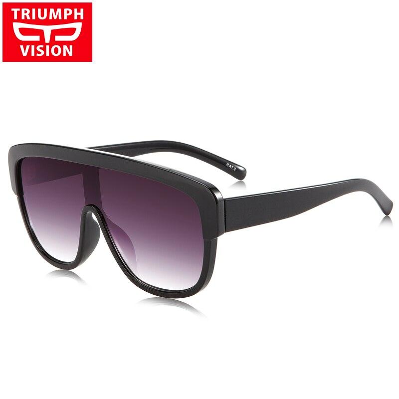 54f558fe423c5 TRIUMPH VISÃO Uma Peça de Designer de Óculos De Sol Dos Homens Gradiente  Lentes de Grandes