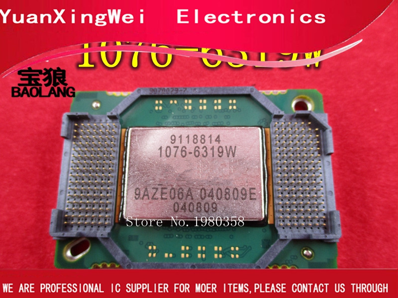Free shipping 1pieces/lot DMD projector Chip 1076-6319 1076-6319W 1076 6319W Best quality