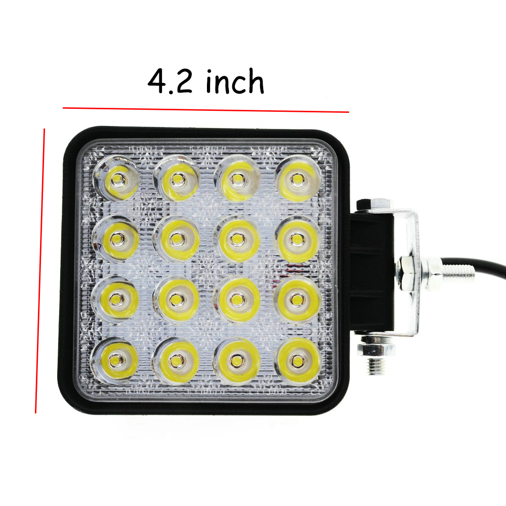 4 2 Inch 48W 12V 24V LED Work Light Spot Flood 4x4 LED Offroad Light Lamp Worklight for Off road ATV Motorcycle Car Truck in Car Headlight Bulbs LED from Automobiles Motorcycles