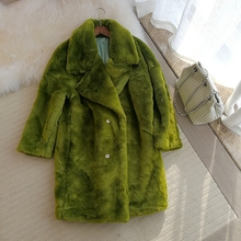 2018 New Style High-end Fashion Women Faux Fur Coat S42