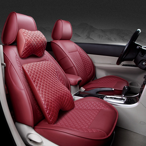 Image 4 - (Przód + tył) specjalna skórzana pokrowce na siedzenia samochodowe Volkswagen vw passat polo golf tiguan jetta touareg akcesoria samochodowe stylizacja