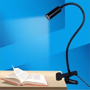 Image 4 - Freies verschiffen FÜHRTE schreibtisch lampe, clamp lesen lampe, 30/40/50 cm 3 watt Flexible led tisch licht, hohe helligkeit clip spot lampe TD 005