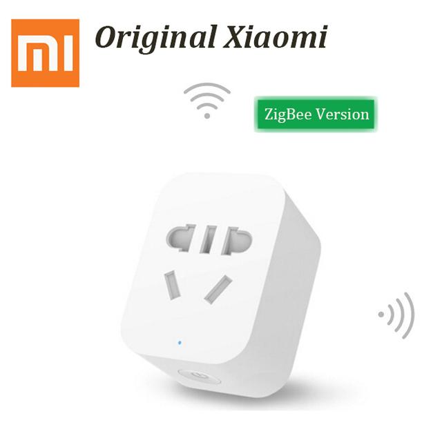 Original xiaomi mi versión inteligente zigbee socket toma de control de wifi con el teléfono inteligente app para ios android