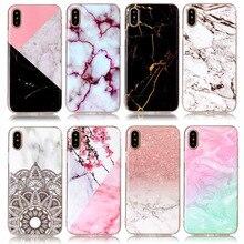SLim Case For Funda Apple iphone X Case Marble Pattern