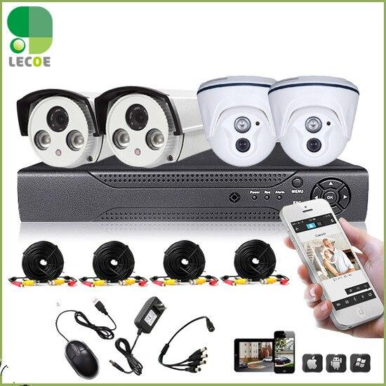 4CH CCTV DVR System HDMI HD 1200TVL Night Vision Analog Surveillance Camera Kit CCTV Security Camera System no HDD