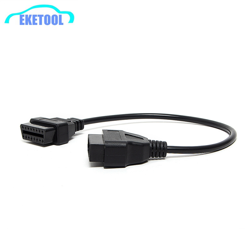 Free Shipping Professional Diagnostic Connector For Nissan 14Pin To 16Pin OBD2 Female Adapter Fits Nissan 14 Pin OBD OBD II