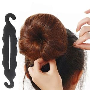 Hair Styling Hair Ring Hairpins Hair disk Meatball Head Hair Accessories for Girls Black Sponge Headband