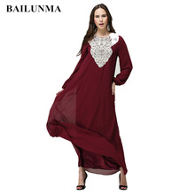 Muslim women clothing Chiffon muslim robe  Appliques morocco dresses arab female dress abaya saudi arabia B8009