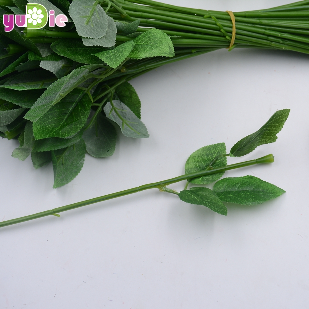 Free shipping 5pcs batch 32 cm green artificial flower for Fake flowers for crafts