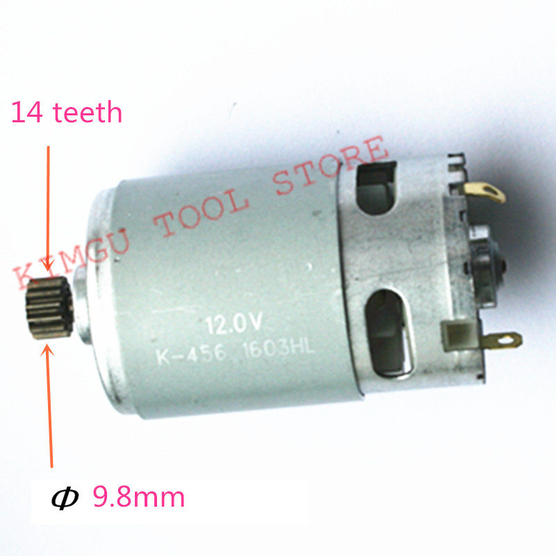 14 dientes DC 12 V Motor reemplazo para MAKITA 629821-7 8270D 8270DWE 8271DWE 8271D 8270DWP taladro conductor destornillador
