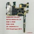 Original desbloqueado 32 gb para samsung galaxy note3 n900 sm-n9005 4g lte placa base placa base