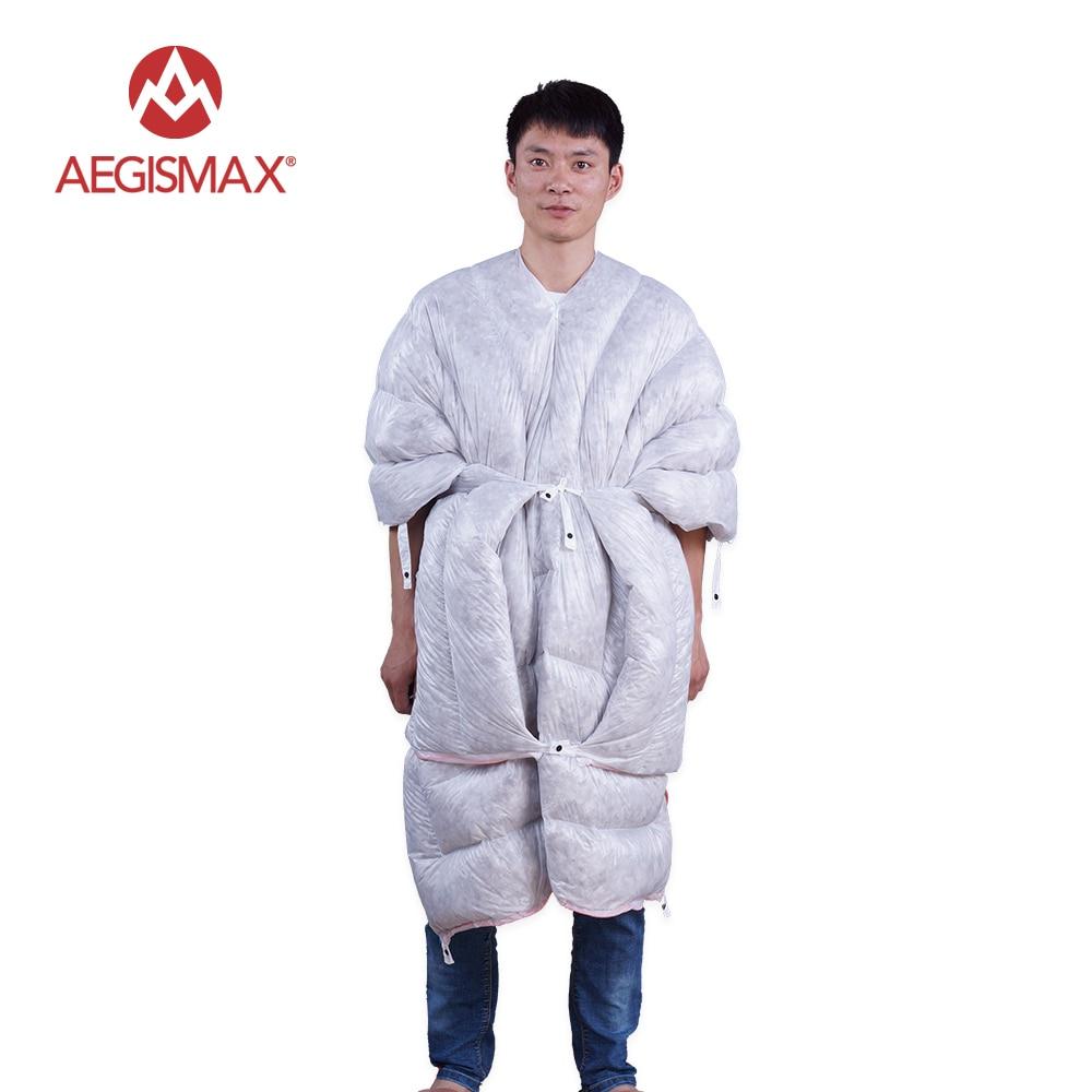 AEGISMAX Ultralight Envelope Sleeping Bag 850FP 95% Goose Down Camping Hiking Outdoor 3 Season Sleeping Bags