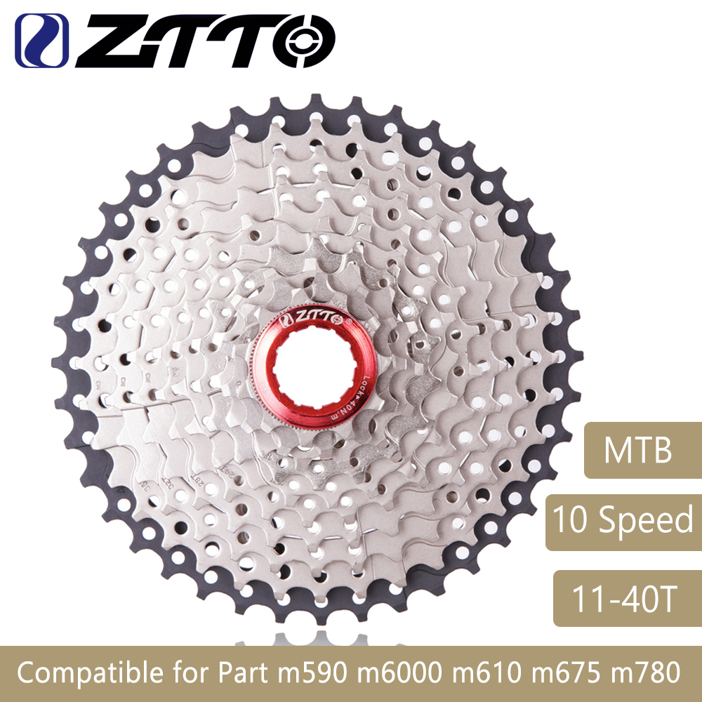 11-40 T 10 Speed Wide Ratio MTB Mountain Bike Bicycle Cassette Sprockets for Parts m590 m6000 m610 m675 m780 X5 X7 X9 ZTTO 509g ztto mountain bike mtb 10 speed cassette 11 46t bicycle freewheel sprockets bike parts for shimano m590 m6000 m610 m780 x7 x9