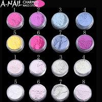 10boxes/set Sunlight Sensitive Powder Color Changing Nail Glitter Powder UV Light Photochromic Pigment Manicure Tips Decoration