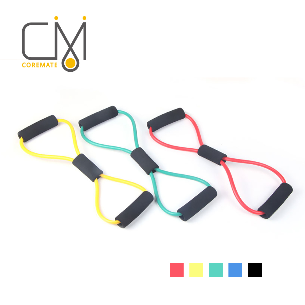 Yoga Pull Rope Strap Resistance Tube Stretch Band Home Workout Fitness Exercise