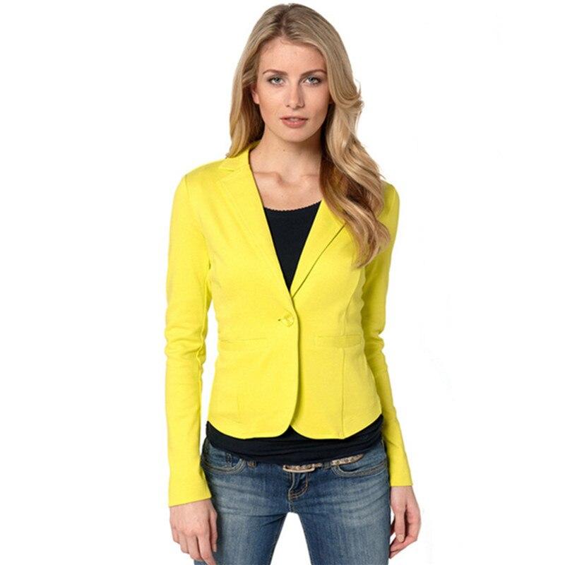 Suit   Jacket   Candy Color Slim Suit Women   Basic     Jacket   9a063