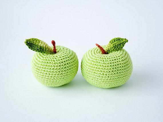 Crochet o presente do professor, Para a escola, Eco friendly brinquedo de criança, Cozinha decoração