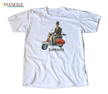 Classic Vintage 1950's Lambretta Scooter Decal T-Shirt - Vespa, Mod, Hipster suit hat pink t-shirt все цены